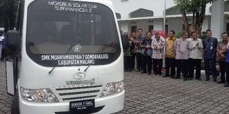 Tempuh 822 Km, Mobil Listrik SMK Muhammadiyah Tiba di Surabaya